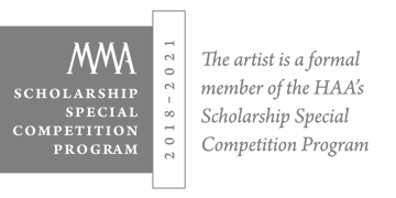 The artist is a formal member of the HAA's Scholarship Special Competition Program